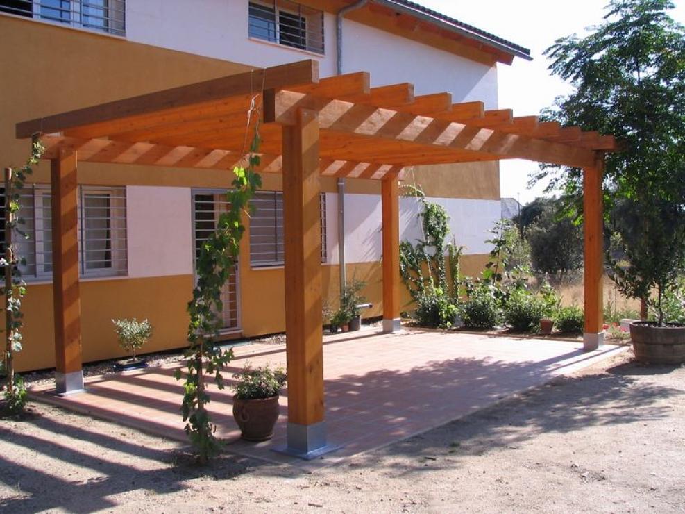 Pergolas de madera redondas inspiration - Pergolas de madera ...